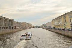 Canal de Fontanka dans StPetersburg photo stock