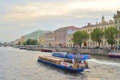 Canal de Fontanka dans StPetersburg photographie stock