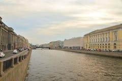 Canal de Fontanka dans StPetersburg photo libre de droits