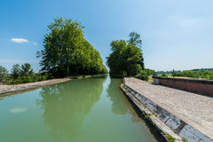 Canal de Garonne in Moissac, France Royalty Free Stock Image