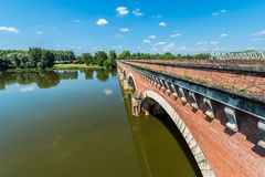 Canal de Garonne in Moissac, France Royalty Free Stock Photography