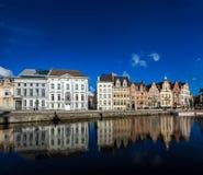 Canal de Ghent. Ghent, Bélgica imagem de stock royalty free