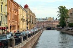 Canal de Griboyedov à St Petersburg Photos stock