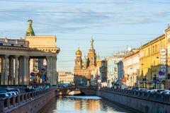 Canal de Griboyedov Imágenes de archivo libres de regalías