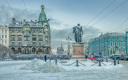 Canal de Griboyedov et intersection de perspective de Nevsky Image stock