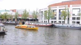 Canal de Herengracht à Amsterdam banque de vidéos