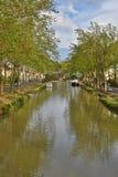 Canal de Jonction σε Salleles δ ` Aude Στοκ Εικόνες
