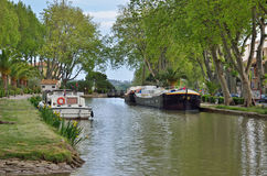 Canal de Jonction al ` Aude di Salleles d Fotografia Stock