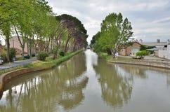 Canal DE Jonction in Salleles D ` Aude Royalty-vrije Stock Fotografie