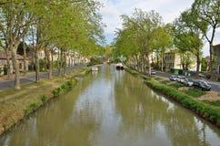 Canal DE Jonction in Salleles D ` Aude Royalty-vrije Stock Afbeelding