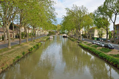 Canal de Jonction at Salleles d`Aude Royalty Free Stock Image