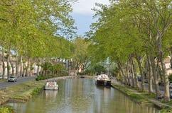 Canal de Jonction at Salleles d`Aude Stock Image