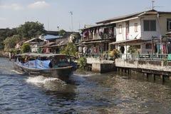 Canal de Khlong en Bangkok Imagen de archivo libre de regalías