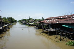 Canal de Klong Suan Imagen de archivo libre de regalías