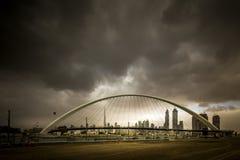 Canal de l'eau de Dubaï image stock