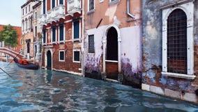 Canal de l'eau et bâtiments antiques à Venise, Italie illustration libre de droits