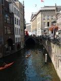 Canal de la central de Utrecht Imagenes de archivo