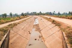 Canal de la diversión del agua Foto de archivo libre de regalías