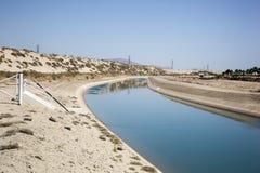 Canal de la irrigación Foto de archivo