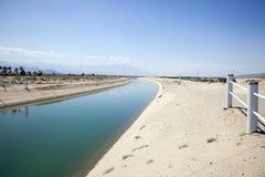 Canal de la irrigación Fotografía de archivo