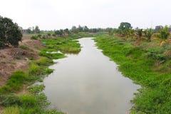 Canal de la irrigación Imagen de archivo libre de regalías