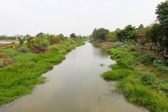 Canal de la irrigación Fotos de archivo