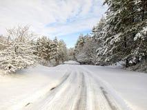 Canal de la manera el invierno Foto de archivo