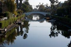 Canal de la playa de Venecia Fotos de archivo libres de regalías