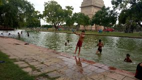 Canal de la puerta de la India, Delhi Imagenes de archivo