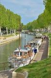 Canal DE La Robin in Narbonne Royalty-vrije Stock Fotografie