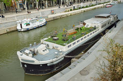 Canal de la Robine in Narbonne Stock Photo