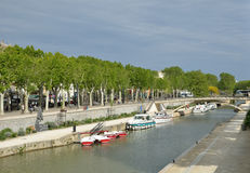 Canal de la Robine in Narbonne Royalty Free Stock Image