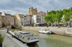 Canal de la Robine in Narbonne Royalty Free Stock Photo