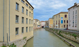 Canal de la Robine in Narbonne Royalty Free Stock Photos
