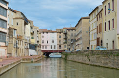 Canal de la Robine in Narbonne Stock Image