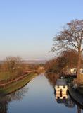 Canal de Lancaster près de Cabus, Lancashire, R-U Images stock