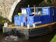 Canal de Leeds Liverpool chez Salterforth dans la belle campagne à la frontière de Lancashire Yorkshire en Angleterre du nord Images libres de droits