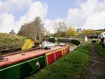 Canal de Leeds Liverpool chez Salterforth dans la belle campagne à la frontière de Lancashire Yorkshire en Angleterre du nord Photo stock