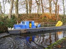 Canal de Leeds Liverpool chez Salterforth dans la belle campagne à la frontière de Lancashire Yorkshire en Angleterre du nord Photo libre de droits