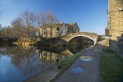 Canal de Leeds Liverpool chez Shipley Image stock