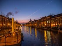 Canal de Leiden Imagens de Stock Royalty Free