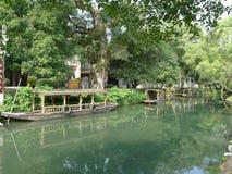 Canal de Linqu Foto de archivo libre de regalías