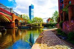 Canal de Manchester Image stock