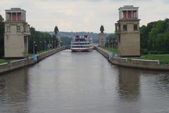 Canal de Moscou Photo libre de droits