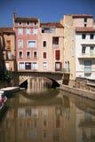 Canal de Narbonne Foto de archivo libre de regalías