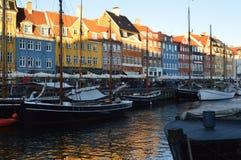 Canal de Nyhavn fotografía de archivo