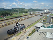 Canal de Panamá Imagenes de archivo