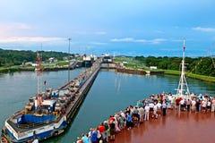 Canal de Panamá el 7 de noviembre de 2009 Imagen de archivo