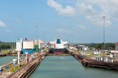 Canal de Panamá - bloqueos de Gatun Fotografía de archivo libre de regalías