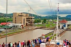 Canal de Panama le 8 novembre 2009 Photographie stock